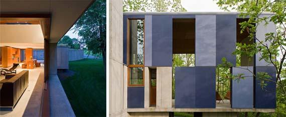 Unique House Design, Hill House Design, cement house design