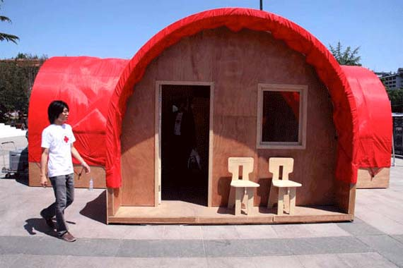 Red Housing Design, Red Housing Picture, emergency housing