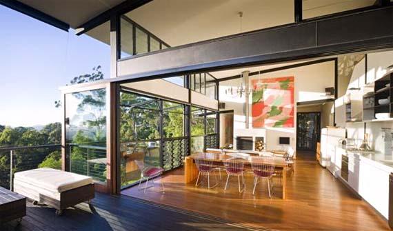 Tinbeerwah House Design,  Wooden House Design, Open Kitchen Design