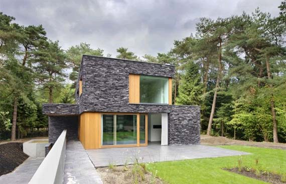 Villa in the woods Soest, Contemporary House Design, Netherlands Architecture