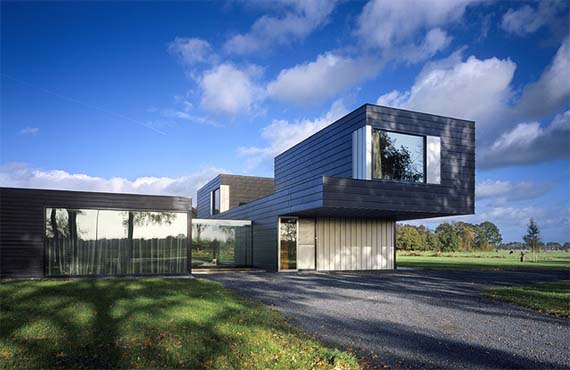 Villa view Vriezenveen, by Zecc Architecten, Modern VillaDesign, Netherlands Architecture