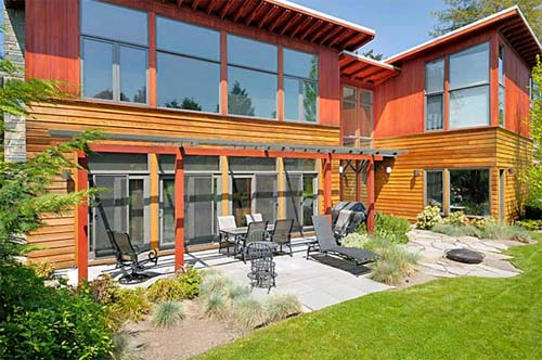 Beck Yard of Mercer Island Residence by Johnston Architects Mercer Island Residence, Modern Residence by Johnston Architects