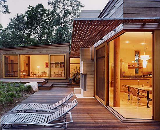Chilmark Meadow House, Contemporary House Design, Luxury House Design, Wooden House Design