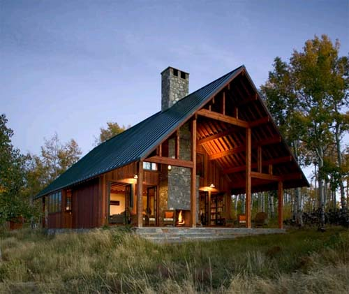 Colorado Residence, Minimalist Wooden House Design with Low Energy ...