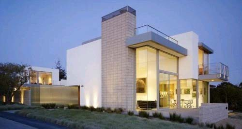 Modern House Design, Eexposed Concrete Block Construction