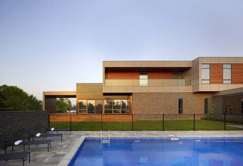 Modern Riverhouse, Niagara River House, Modern House Design