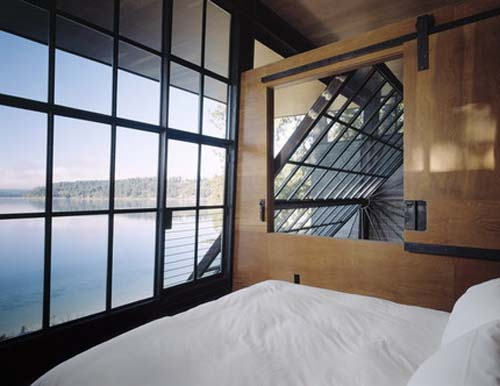 Bed Room-Chicken Point Cabin by Olson Sundberg Kundig Allen Architects