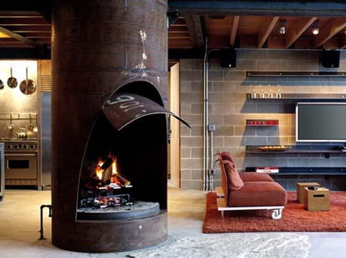Family Room-Chicken Point Cabin by Olson Sundberg Kundig Allen Architects