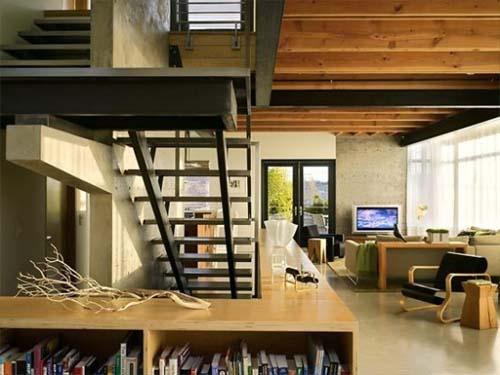 Interior live work residence modern house design by for Studio house design