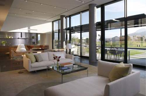 Living Room Palm Desert Residence By Heliotrope Architects