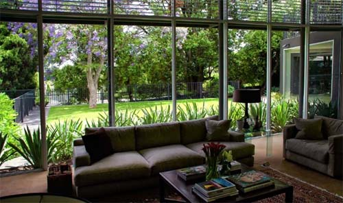 Living room toorak residence by eckersley garden for Indoor garden design living room
