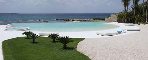 Open Pool Luxury House Design in Casa de Campo by A Cero Luxury Beach House Design in Casa de Campo by A Cero