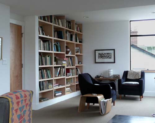 Reading room north capitol hill residence by studio for Reading room interior design
