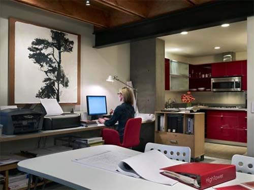 Work Room Live Work Residence Modern House Design By