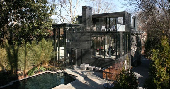 Ansley Glass House, House with Glass Curtain-Walls