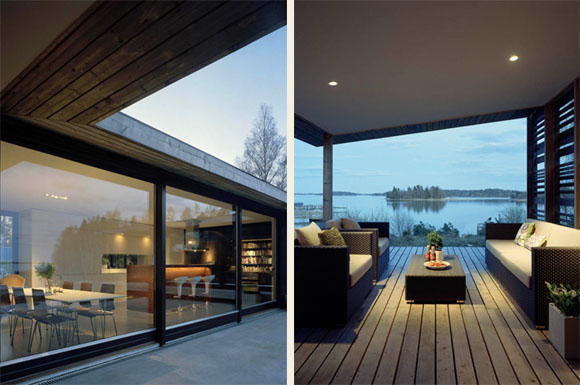 Living Room view of H House in Troso South of Stockholm by WRB Architects 1 H   House in Troso, South of Stockholm by WRB Architects