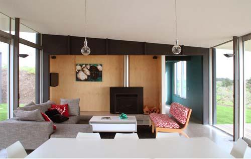 Pekapeka Beach House, Holiday Home Design by Parsonson  ~ 193103_Living Room Ideas Nz