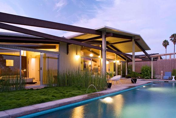 Palmer and Krisel Renovation, Modernized ,Pool view