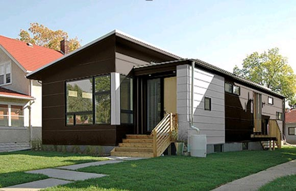 Modern house with green technologies by hive modular for Modern green home plans