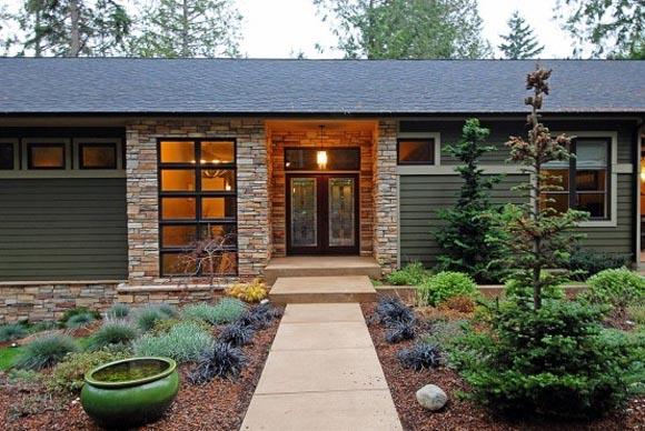 House Entry Design minimalist house design with energy efficient on bainbridge island