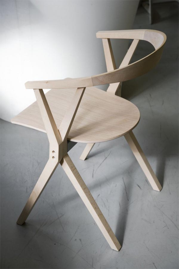B Chair Solid Wood Features a Flip up Seat B Chair, Solid Wood Features a Flip up Seat