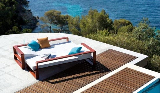 Contemporary outdoor furniture set from ego paris for Sofa exterior terraza