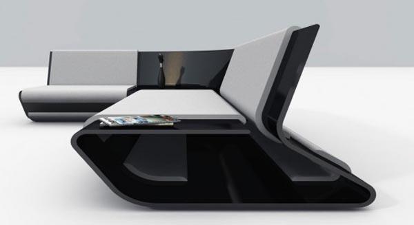 Slim Comfortable Sofa From Stephane Perrucho Interior