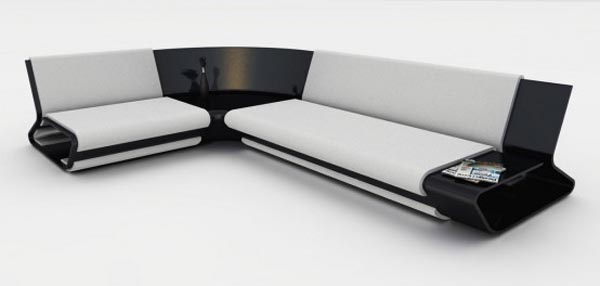 Cool Sofa Design With White and Black Color