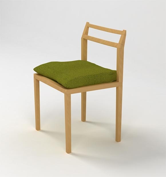Chair Furniture by Lisa Sandall Chair and Dining Table by Lisa Sandall, Made From Oak and Aesthetically Inspired by Mid Century Danish Furniture