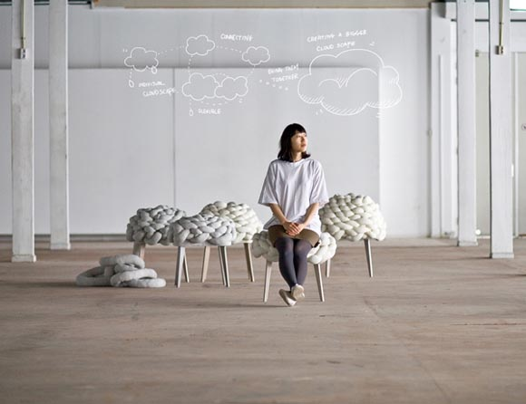 Cloud Stool by JoonJung Cloud Stool by Joon&Jung, Inspired by Flexibility and Softness of the Cloudscape
