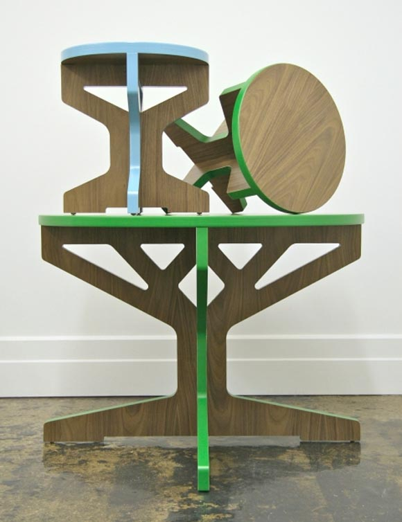 Interlocking Tree Table and Stool by April Hannah 2 Interlocking Tree Table and Stool by April Hannah, Completed Your Interior Furniture