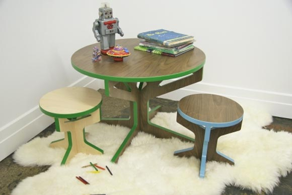 Interlocking Tree Table and Stool by April Hannah Interlocking Tree Table and Stool by April Hannah, Completed Your Interior Furniture
