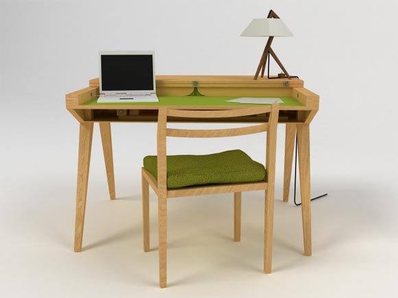 Will Dining Table by Lisa Sandall 2 Chair and Dining Table by Lisa Sandall, Made From Oak and Aesthetically Inspired by Mid Century Danish Furniture