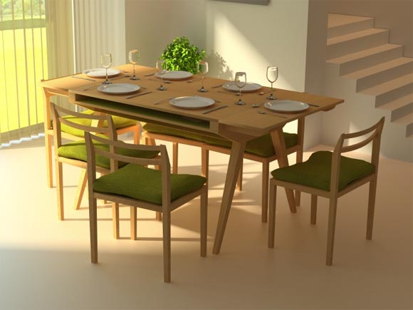 Will Dining Table by Lisa Sandall Chair and Dining Table by Lisa Sandall, Made From Oak and Aesthetically Inspired by Mid Century Danish Furniture