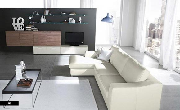 modern living room sets inside unique design | Having a Nice Lving Room with Sofa Sets from Columbini ...