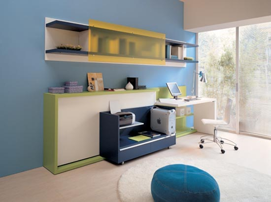Folding Bed and Home Office Photo 3 150x150 Creating Functional Kids ...