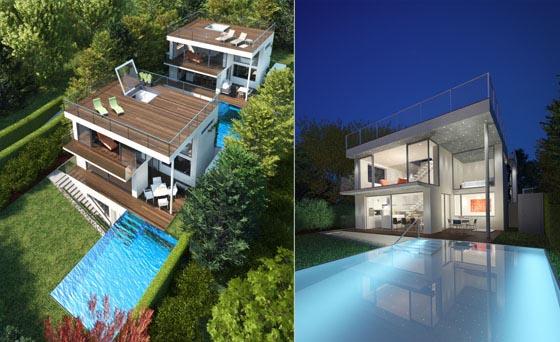 viennas schafberg garden house with minimalist interior design - House Designs With Garden