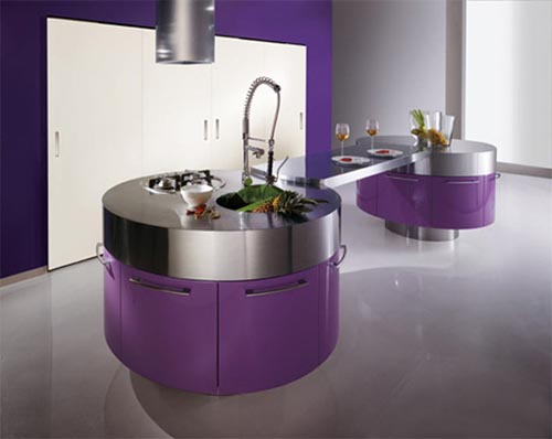 Modern Bright Color Kitchen Design and Furniture  Interior Design
