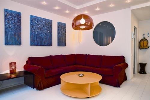 Small apartment with bright interior design