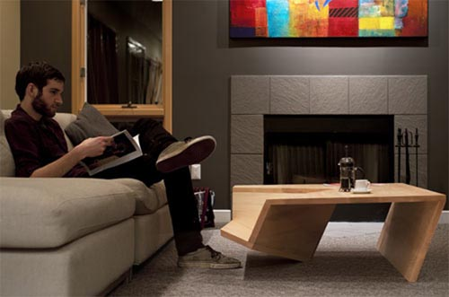 Modern and Minimalist Coffee Table With Book Storage ...