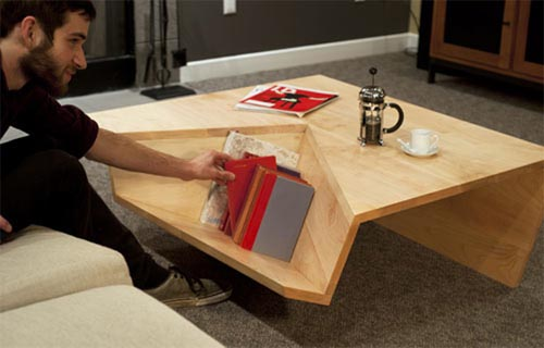 Coffee Table With Book Storage Modern and Minimalist Coffee Table With Book Storage