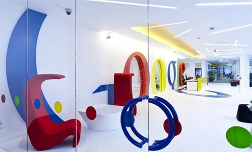 Google's New Vivid Office Interior in London Google's New Vivid Office Interior in London