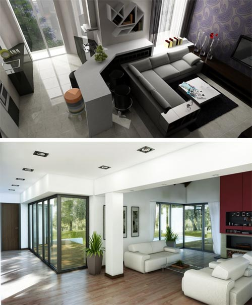 dark living room concept Dark Living Area Design And Style Concepts  decoration ideas