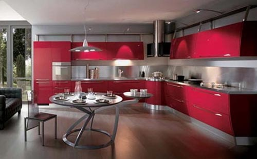 Luxury Color Kitchen by Scavolini