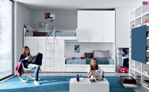 Modern teenagers bedrooms design