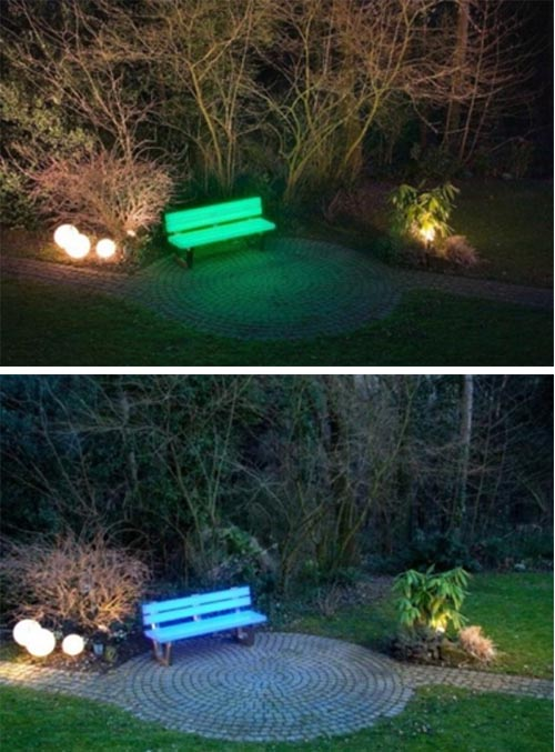 Outdoor Bench and Indoor Bench with LED