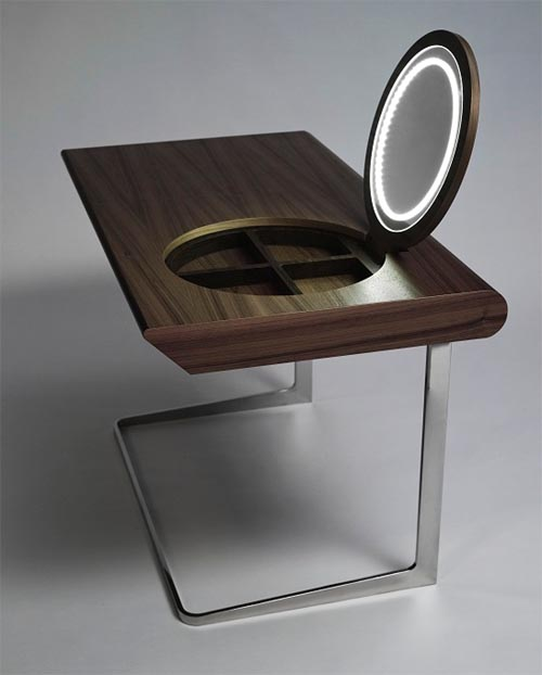 Modern Wooden Girls Dressing Table Design Interior