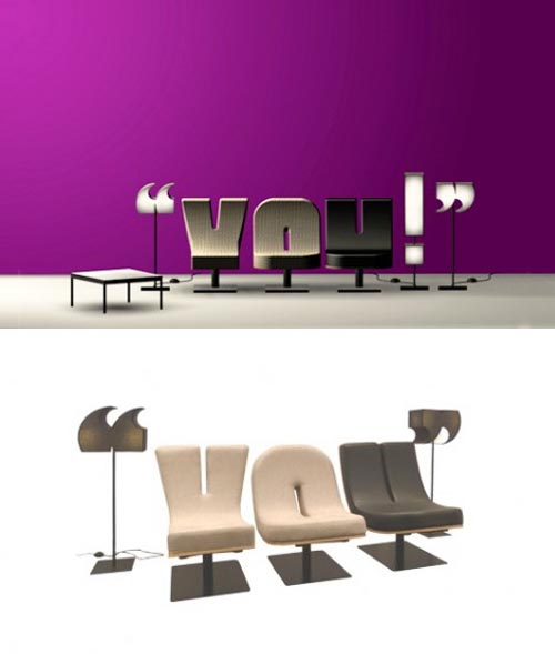 Creative Alphabet Chairs by Tabisso