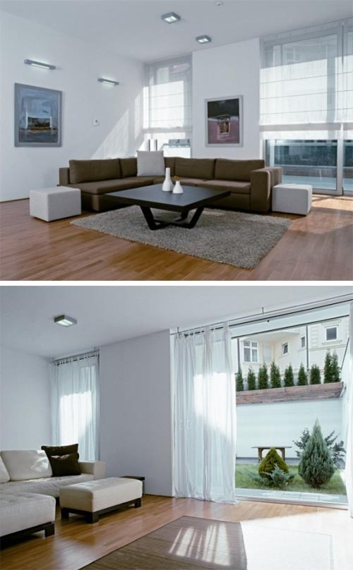 Comfortable white interior Comfortable White Townhouse in Serbia