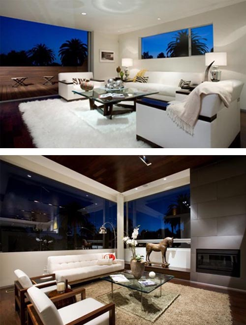 Contemporary Living Room House in Cheviot Hills of Los Angele Built a House in Cheviot Hills of Los Angele